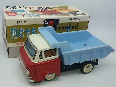 Red China MF-214 Lkw Kipplaster Truck Tin Friction