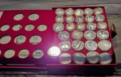 1980 Olympic Proof Silver 28 Coins USSR CCCP Soviet Union Russia 20 oz in Case