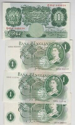 Four Beale/Page/Hollom & Fforde £1 Notes In Near Mint Condition
