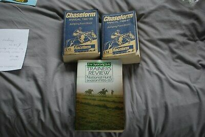 2 Raceform Chaseform Jumping Annuals For 1986/7 & 1987/8 & Nh Trainers Review