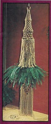 Jute Plant Hanger Pattern - Rare Craft Book: # MP1 Macrame Portraits book 1