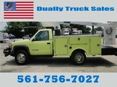 1993 Gmc 3500Hchevy Boom Truck, New Diesel Engine,
