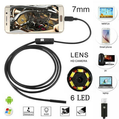 1-5M 6 LED Waterproof Android Endoscope Borescope Snake Inspection Camera .