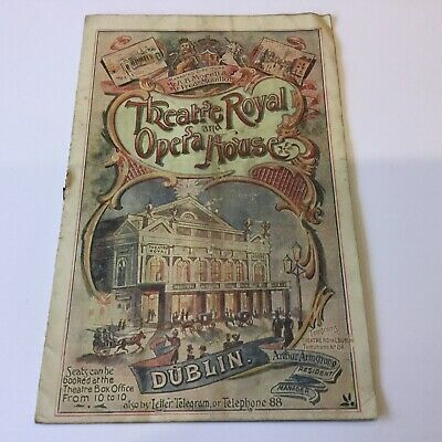 1901 - Theatre Royal And Opera House, Dublin - Programme