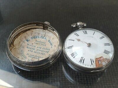 Rare Georgian Solid Silver Fusee Paired Pocket Watch James Barden Boreham Street