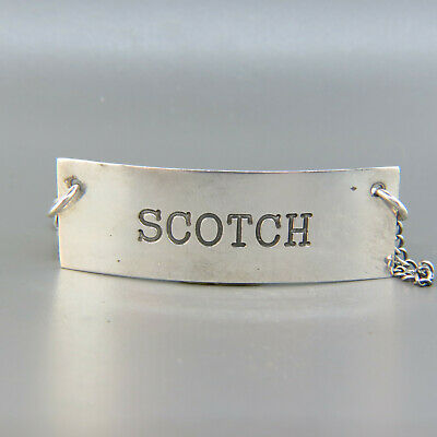 Vintage Scotch Decanter Label Tag