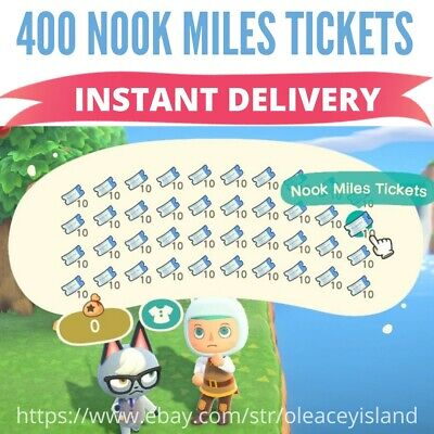 ✈️400 NOOK MILES TICKETS✈️ for Animal Crossing New Horizons