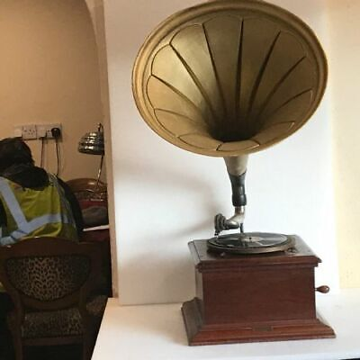 Horn Gramophone circa 1900's His Masters Voice