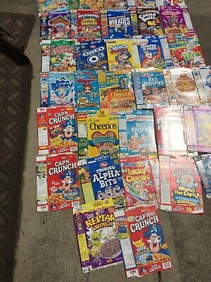 Collectable used cereal boxes.  Not for the fussy.