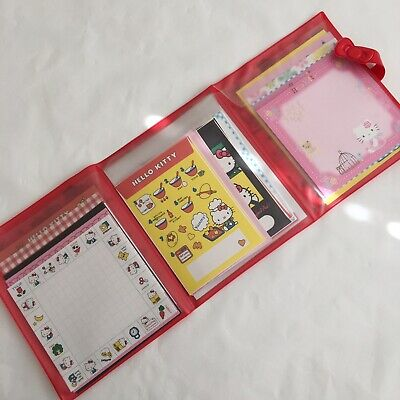Sanrio Hello Kitty Letterset 35th Anniversary in Vinyl Folder From Japan 60 Pcs