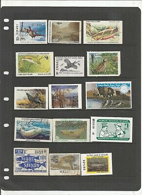 Us State Hunting An Fishing Permit Stamp Collection