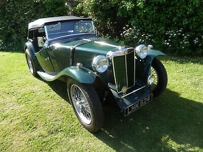 1949 Mg Tc Good Condition Recent Rebuilt Engine/5 Speed Gearbox
