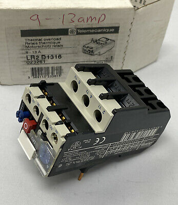 Telemecanique Lr2 D1316 9-13A Thermal Overload Relay (New) Free Shipping