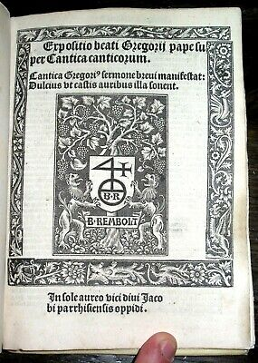 1509 ST GREGORY Post Incunacle VELLUM Gothic HOLY BIBLE Catholic CHURCH Canticle
