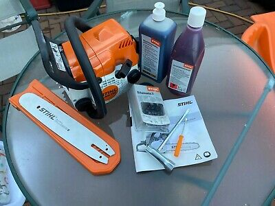 New Boxed Stihl MS170 Chainsaw Complete Set Up