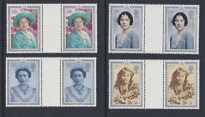 GB 1990 Queen Mother 90th Birthday MNH Gutter Pairs SG1507-10