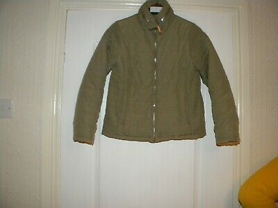 Girls New Look Green Polyester Lined Jacket Size 10/11 Years