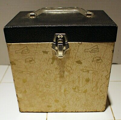 Rare Vintage 45 Record Carrying Case - Black & Gold