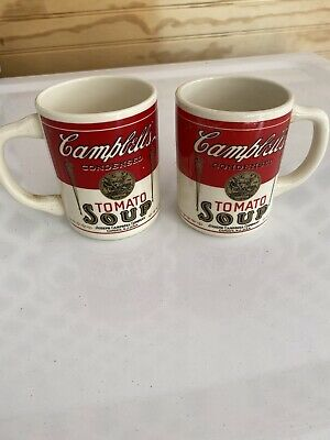 Pair Of Cambells Tomato Soup Mugs