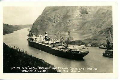 Panama Railroad Steamship's ANCON of 1908 - first ship to use the Panama Canal