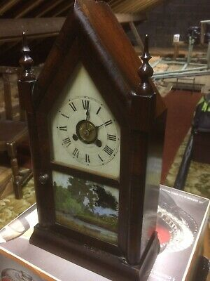 Jerome & Co. Steeple Clock '1 Day Small Gothic'. Ca 1845-55