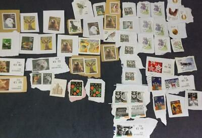 Eire Irish modern Stamps Kiloware Unfranked Face Value $34 ON Paper  KW20