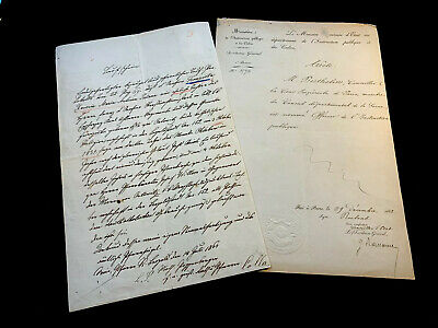 LOT OF TWO MANUSCRIPTS 1860s