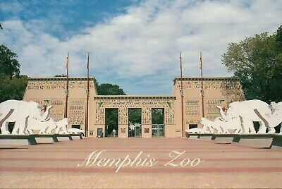 Grand Entrance to the Memphis Zoo, Tennessee, Elephants etc., TN  - Postcard