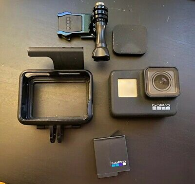 GoPro Hero7 Black 12 MP Waterproof 4k Action Camera w/ Extras