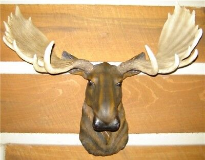 Moose Head Large  Wall  Mount Lodge Cabin Log Taxidermy