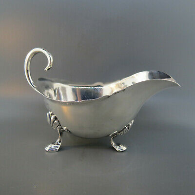 1899 English Sterling Silver Footed Sauce Boat