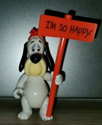 """Droopy Dog Figure with """"I'm So Happy"""" Sign 1989"""