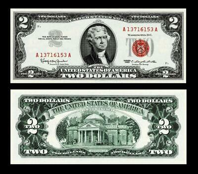 1963  $2 Two Dollar Red Seal Note~~ Uncirculated
