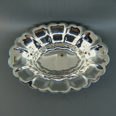 Sterling Silver Oval Nut Dish or Bowl by York