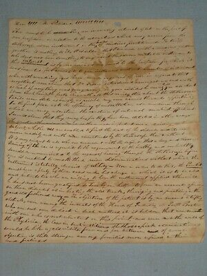 Early 1800'S Manuscript Letter Correspondence Medical Content