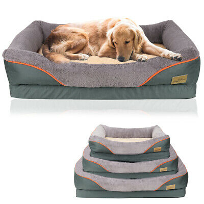 Jumbo Orthopedic Dog Bed Extra Large Thicken Form Faux Fur XL Waterproof Pet Bed