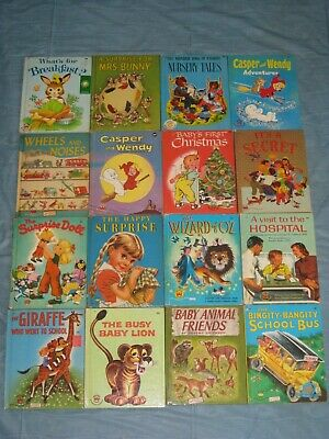 1940'S-60'S Lot Of 16 Wonder Books