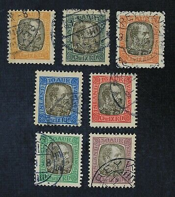 CKStamps: Iceland Stamps Collection Scott#O13-O19 Used