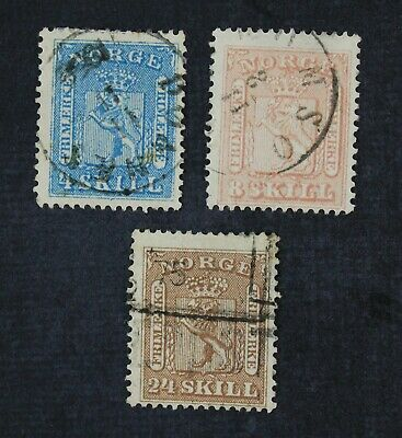 CKStamps: Norway Stamps Collection Scott#8-10 Used
