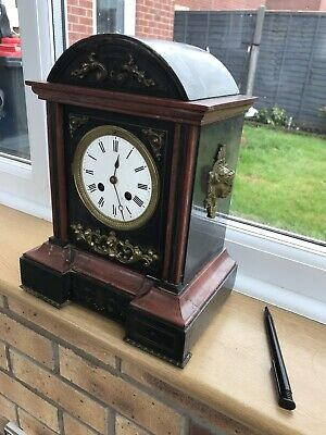 Large Slate Mantle Clock
