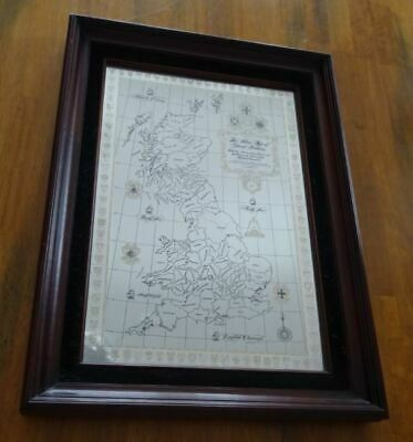 GOOD STERLING SILVER & GOLD MAP of GREAT BRITAIN LIMITED EDITION DANBURY MINT
