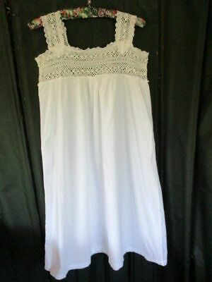 ANTIQUE 1920`s FRENCH CHEMISE/NIGHTDRESS SLIP
