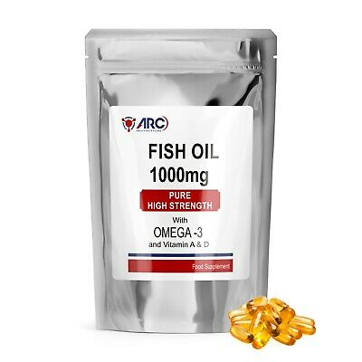 Omega 3 Fish Oil 1000mg capsules (365 Capsules) Healthy Heart