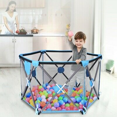 Portable Collapsible Travel Crib Tent Ball Pool Game House Children's Playground