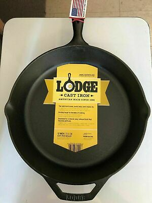 "Lodge 12"" Cast Iron Skillet Pre-Seasoned L10SK3  - Free Shipping - New 100%"