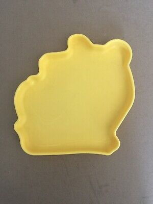Genuine Tupperware Limited Edition Disney Winnie the Pooh Design Plate Yellow
