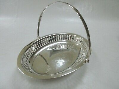 Beautiful  Silver Plated Vintage Handled Perforated Serving Dish