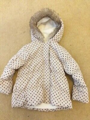 Girls Spotty Coat / Anorak, Age 2-3 Years