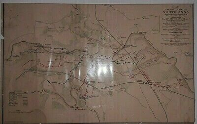 10 Antique Civil War Maps See List of Sites in Description