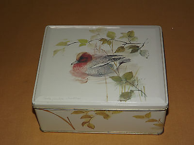 Vintage Made In England Duck Tin Box Signed